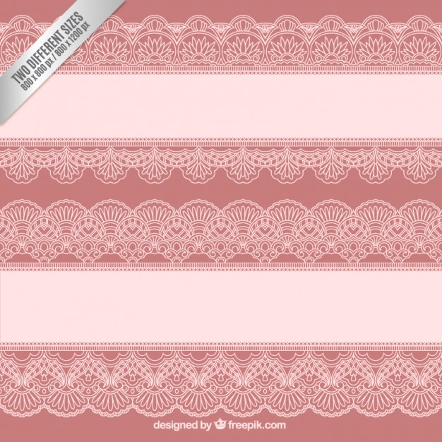 Lace borders background