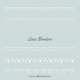 Lace borders vector set