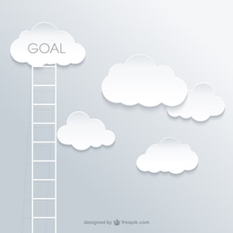 Ladder to the success concept