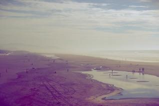 Lagoons on the beach