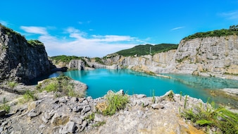 Lake between mountains