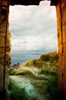 Landscape beyond arch