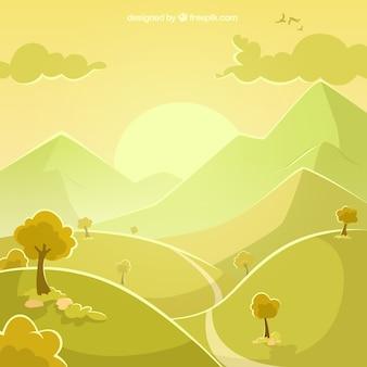 Landscape in green tones