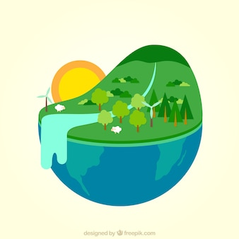 Landscape of the earth
