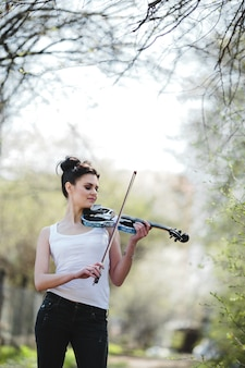 Landscape violin nature europe bow