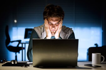 Laptop boy surfing male internet