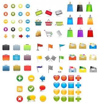 Large Colorful ecommerce vector set