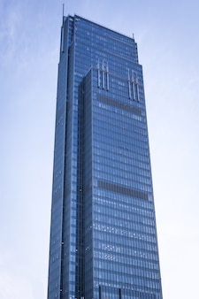 Large glass buildings