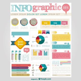Large infographic elements collection