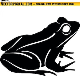 Lateral frog clip art