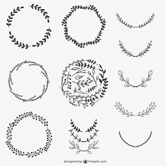 Leafy wreaths pack