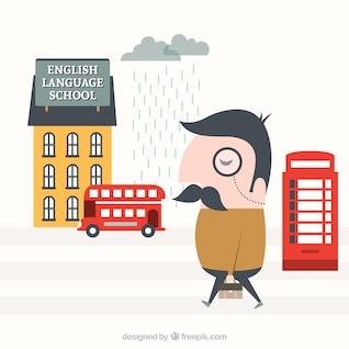 Learning english illustration