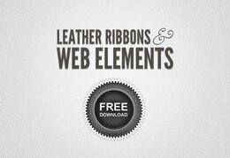 leather ribbons & web lements