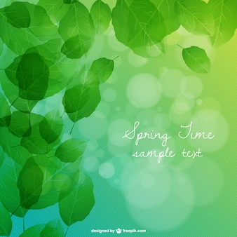 Leaves background free vector