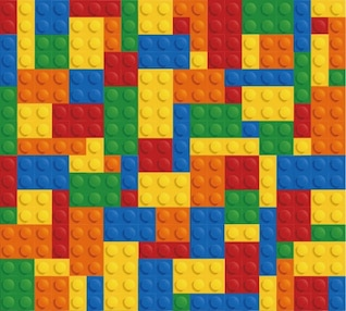 Lego bricks wall colorful background