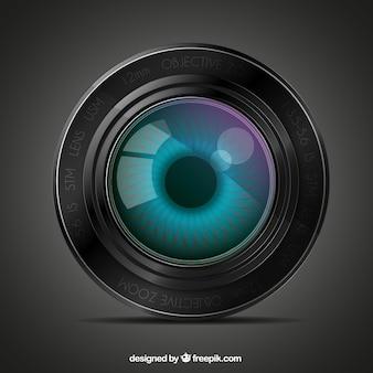 Lens with an eye