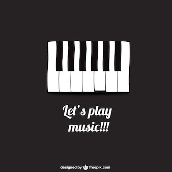 Let's play music poster