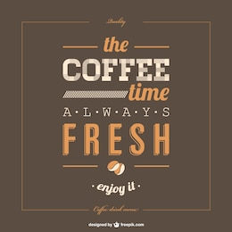 Lettering poster coffee template