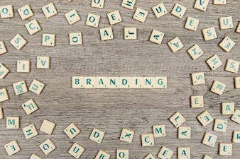 Letters forming the word branding
