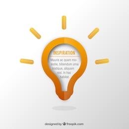 Light bulb template