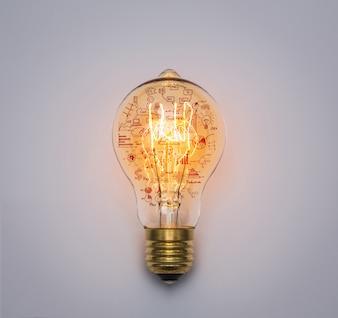 描画グラフと電球