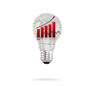 Light bulb with growing graph