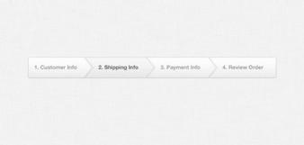 light ecommerce checkout progress bar psd