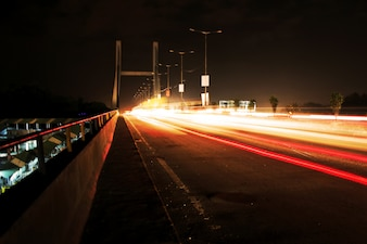 Light Paintings of City Traffic