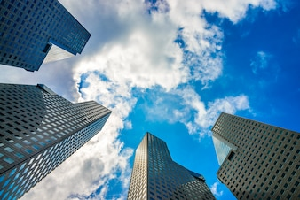 Light skyscraper downtown architecture business