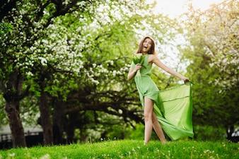 Light stylish blooming grass tenderness