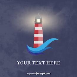 Lighthouse vector retro image