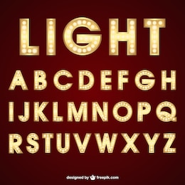 Lighting typography