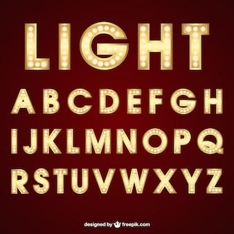 Lighting typography
