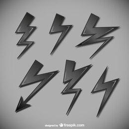 Lightning symbols collection