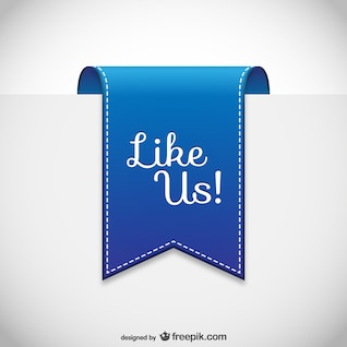 Like us label vector