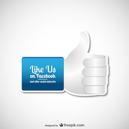 Like us on Facebook vector