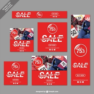 Limited time sale banners