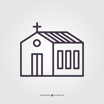Linear church vector pictogram