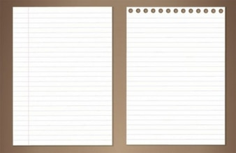 lined note books illustration vector