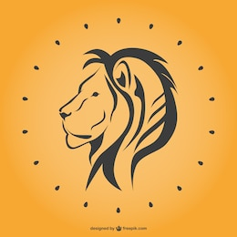 Lion line art vector