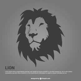 Lion portrait illustration