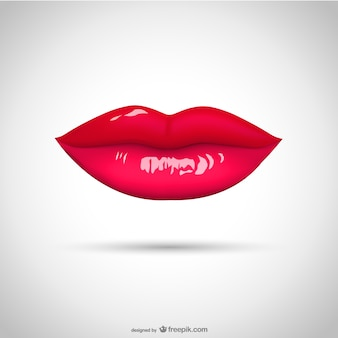 Lipstick kiss vector illustration
