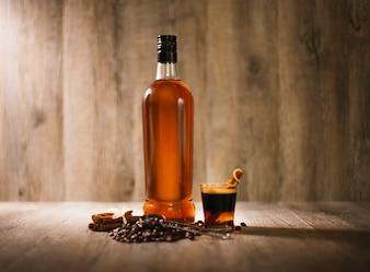 Liquor rum cafe distillery vidrio