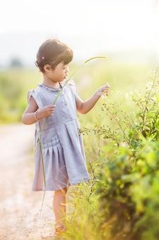Little girl enjoying outdoors