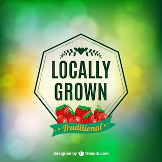 Locally grown vector label