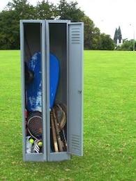 Locker and sports equipment