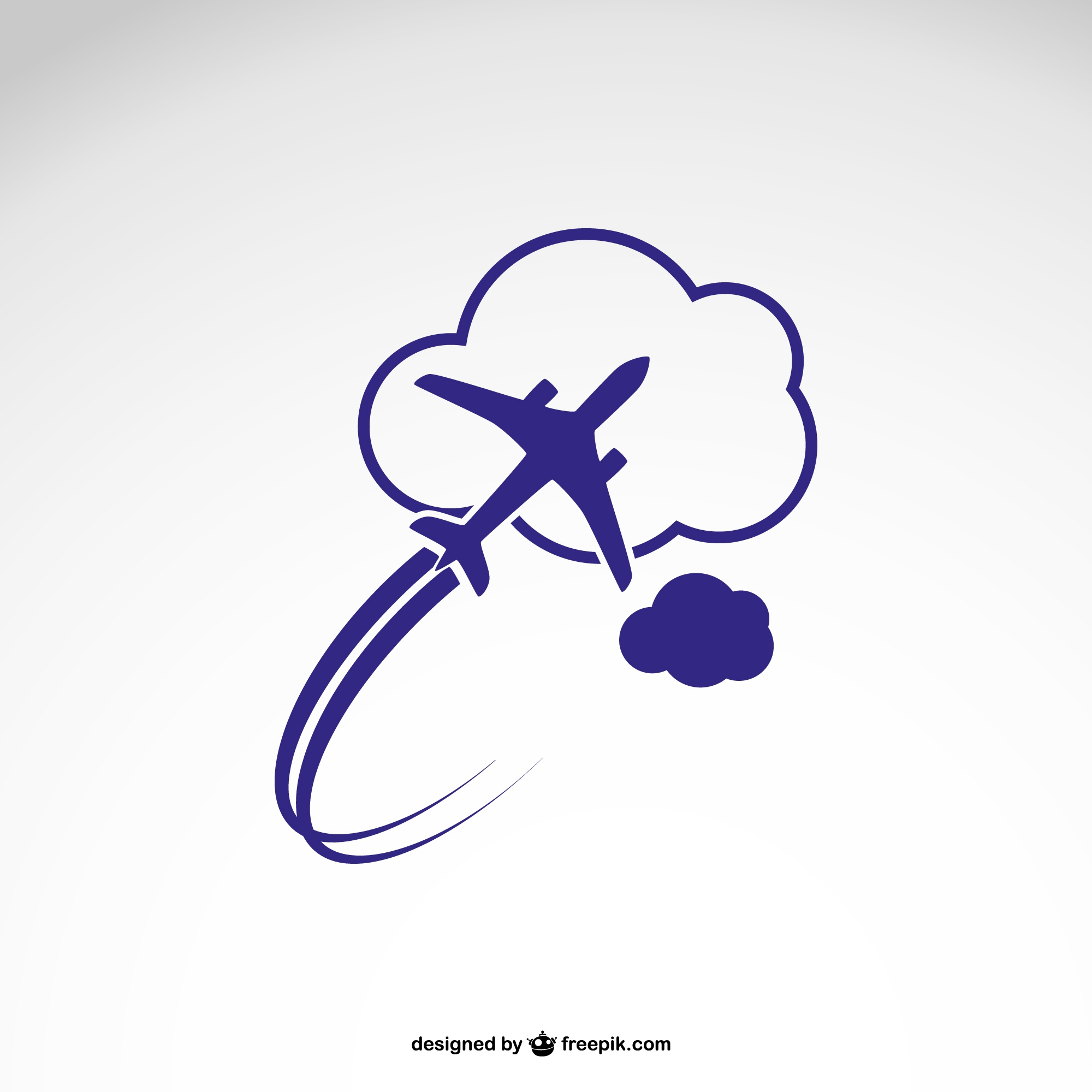 Logo template with airplane