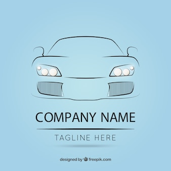 Logo template with car outline