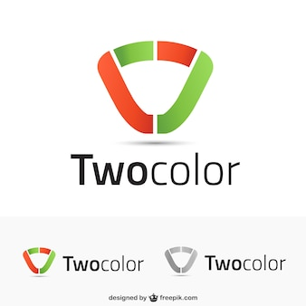 Logo templates in two colors