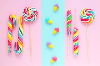 Lollipops and jelly ice-creams
